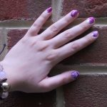 Purple Water Marbled Nail Art