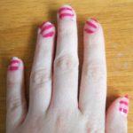 Stripy Disco Nail Art